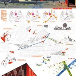 Progetto di riqualificazione urbana (Trondheim), tavola di progetto
