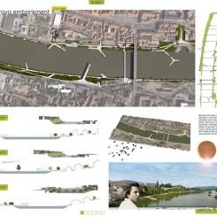 Riqualificazione dell'argine del fiume Drava (Maribor), tavola di progetto
