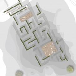 Concorso per un museo all'aperto sul Carso Goriziano (Monte San Michele), pianta