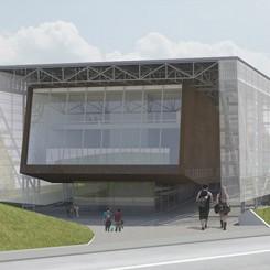 Nuovo complesso polifunzionale sulle calamità naturali (Istanbul), vista dell'entrata principale