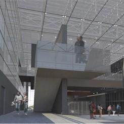 Nuovo complesso polifunzionale sulle calamità naturali (Istanbul), vista dei percorsi interni