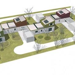 Progetto per residenze sociali (Vigonza), modello