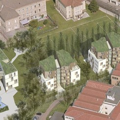 Progetto di edifici ad uso residenziale e terziario (Brescia), fotoinserimento