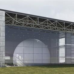 Nuovo complesso polifunzionale sulle calamità naturali (Istanbul), vista esterna