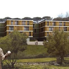 Progetto per residenze universitarie (Perugia), fotoinserimento