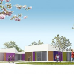 Nuova scuola materna a Cazzago San Martino (BS), vista esterna