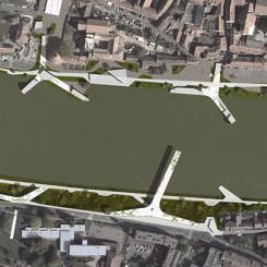 Riqualificazione dell'argine del fiume Drava (Maribor), ortofoto