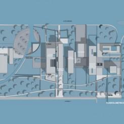 Nuova sede della Provincia di Pisa, Parco di Cisanello, planivolumetrico