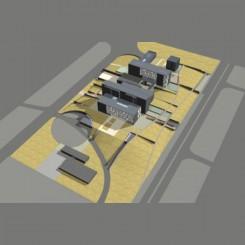 Nuova sede della Provincia di Pisa, Parco di Cisanello, vista a volo d'uccello
