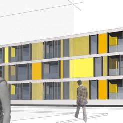 Progetto per edificio residenziale (Grosseto), rendering