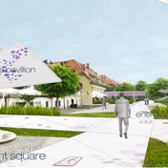 Riqualificazione dell'argine del fiume Drava (Maribor), rendering