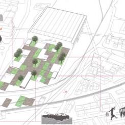 Progetto di riqualificazione urbana (Trondheim), schemi funzionali