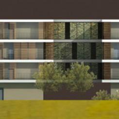 Progetto per residenze universitarie (Perugia), prospetto
