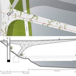 Riqualificazione dell'argine del fiume Drava (Maribor), pianta e sezione