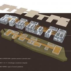 Progetto per residenze universitarie (Perugia), schemi funzionali