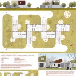 Progetto per residenze sociali (Vigonza), tavola di progetto
