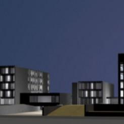 Nuova sede della Provincia di Pisa, Parco di Cisanello, rendering di progetto