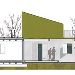 Progetto per residenze sociali (Vigonza), sezione