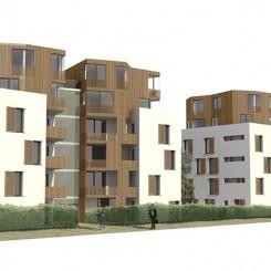 Progetto di edifici ad uso residenziale e terziario (Brescia), rendering
