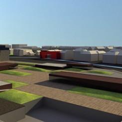 Progetto di riqualificazione urbana (Progetto di riqualificazione urbana (Trondheim), rendering), rendering