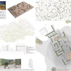 Concorso per un museo all'aperto sul Carso Goriziano (Monte San Michele), tavola di progetto
