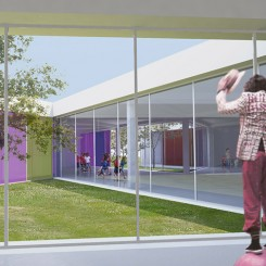 Nuova scuola materna a Cazzago San Martino (BS), vista interna