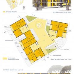 Progetto per edificio residenziale (Grosseto), tavola di progetto