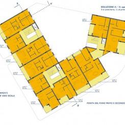 Progetto per edificio residenziale (Grosseto), pianta