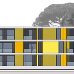 Progetto per edificio residenziale (Grosseto), prospetto