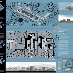 Nuova sede della Provincia di Pisa, Parco di Cisanello, tavola di progetto